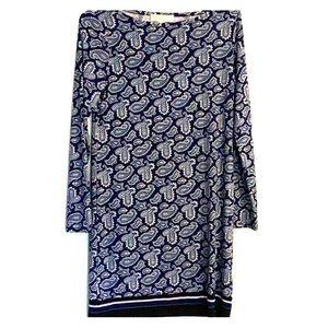 Blue paisley Micheal Kors dress